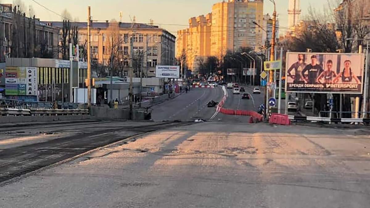 Начало работ по демонтажу Шулявского моста