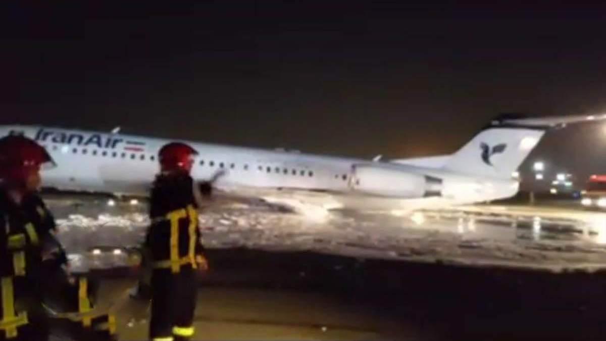 У Тегерані загорівся літак, на борту якого перебували 100 пасажирів