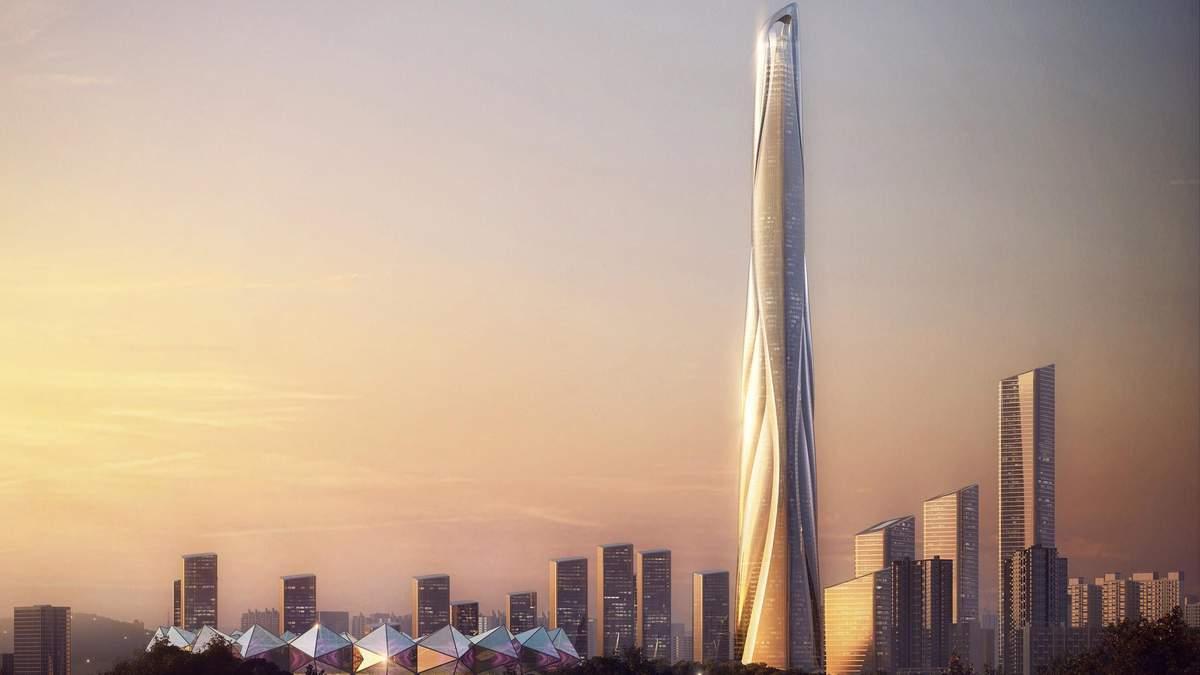 Самый высокий небоскреб Китая высотой 700 метров
