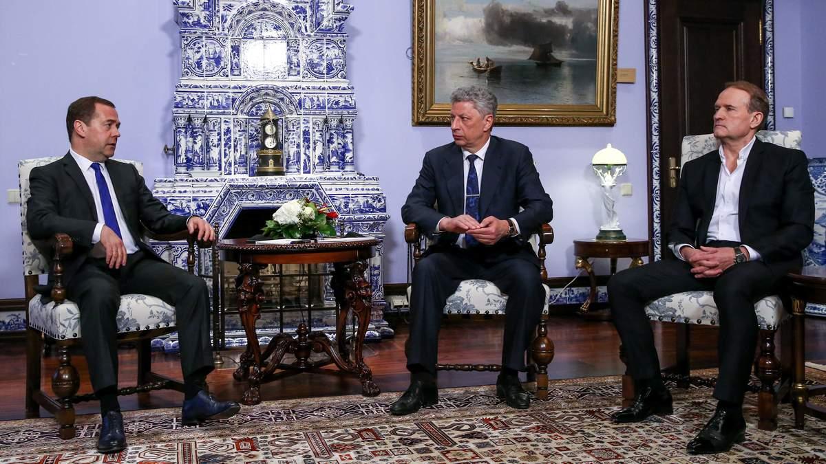 Зачем Медведчук с Бойко ездили к Медведеву в Москву и что это им даст