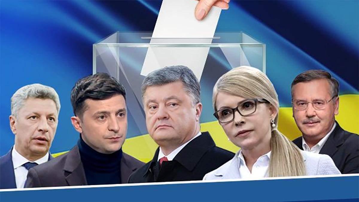 Выборы 2019 - как голосуют кандидаты в президенты Украины 2019 и политики