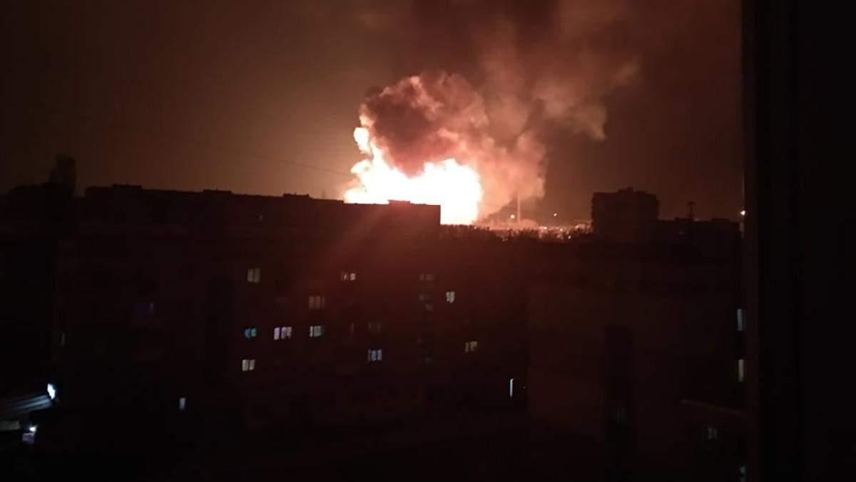 Вибухі у Кропивницькому 27.03.2019 - фото і відео вибухів