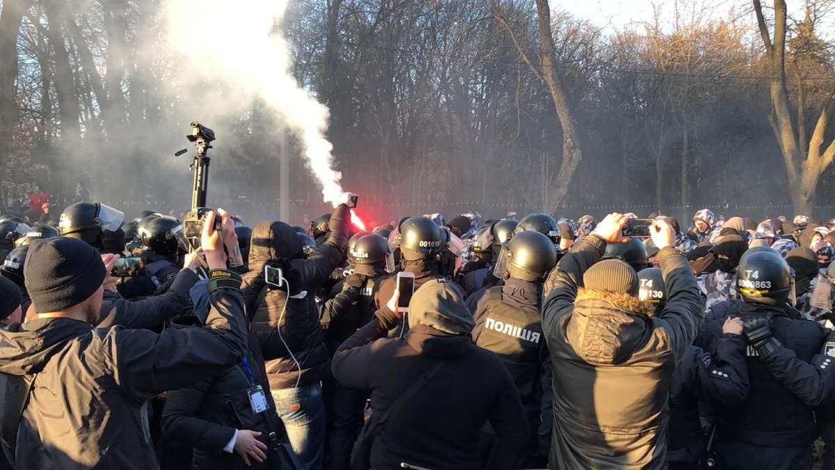 Нацкорпус в Виннице прорывался к Порошенко, есть избитые и задержанные: фото и видео