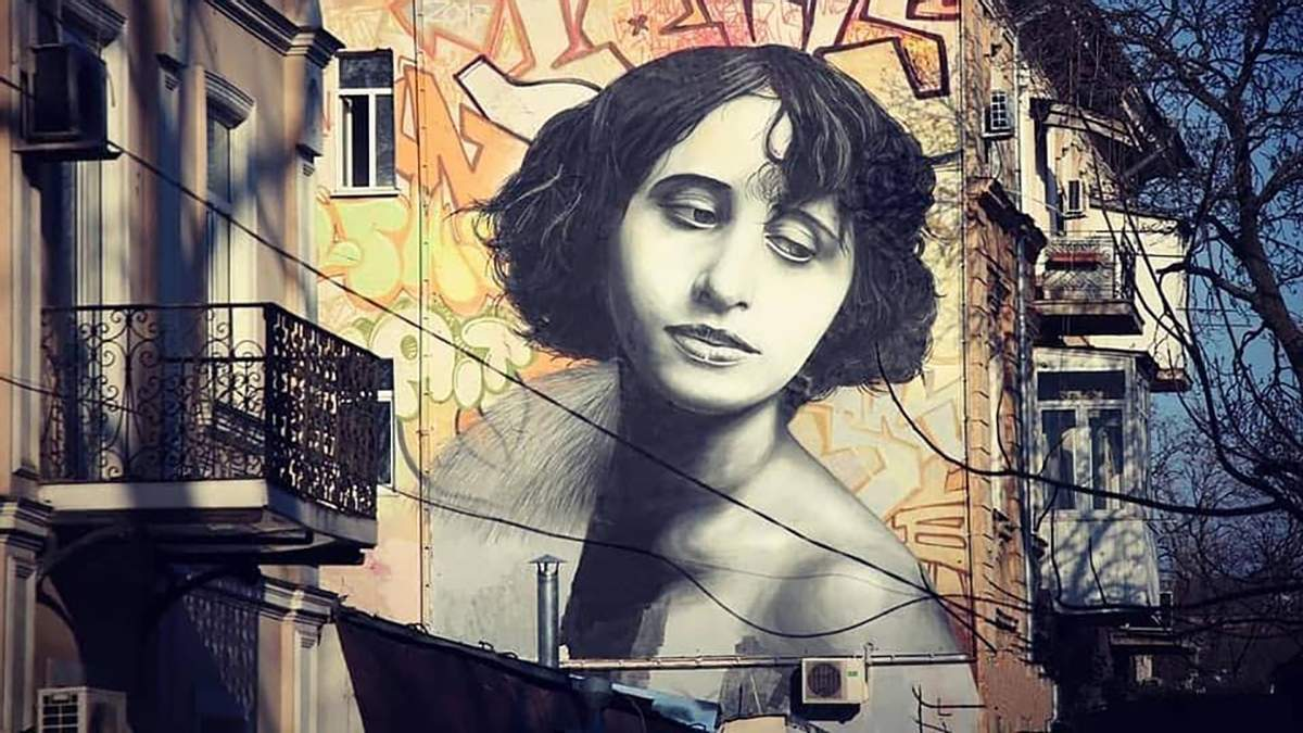 Мурал зі зображенням відомої актриси створили в Одесі: вражаючі фото