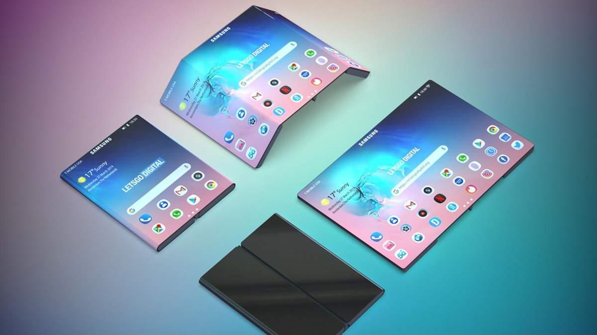 Samsung запатентувала ще один гнучкий смартфон
