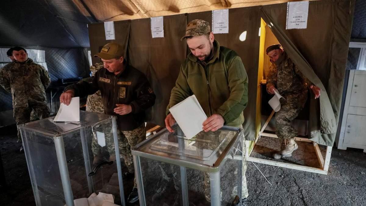 Обновленные данные голосования военнослужащих в зоне ООС