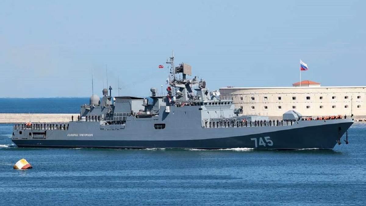 Военный корабль РФ проведет в Черном море артиллерийские стрельбы и электронный запуск ракет