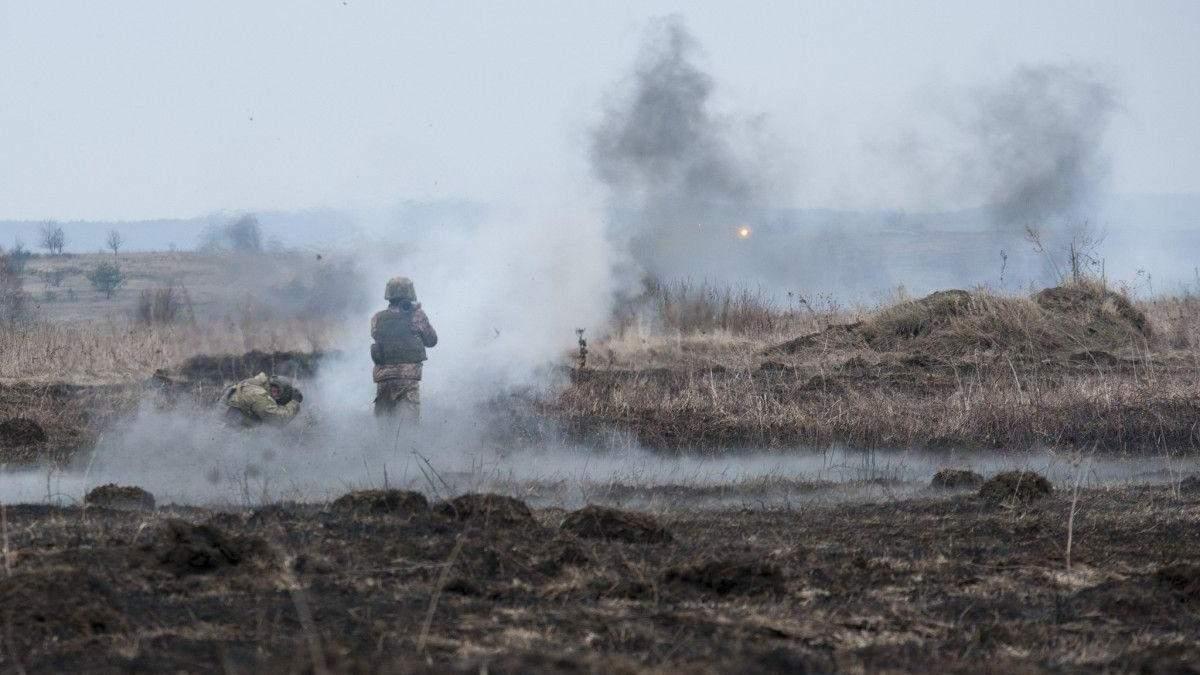 На Донбассе большие потери среди боевиков, один украинский воин получил ранения