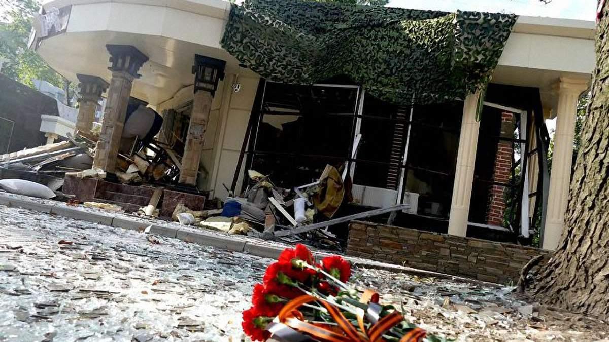 Місце вбивства Віталія Захарченка