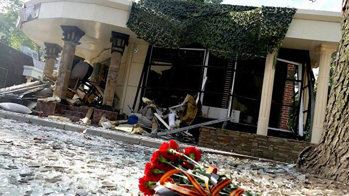 Место убийства Виталия Захарченко