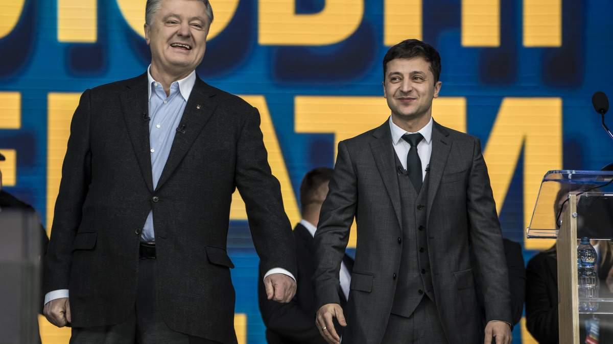Зеленский обвинил Порошенко в присвоении чужих достижений