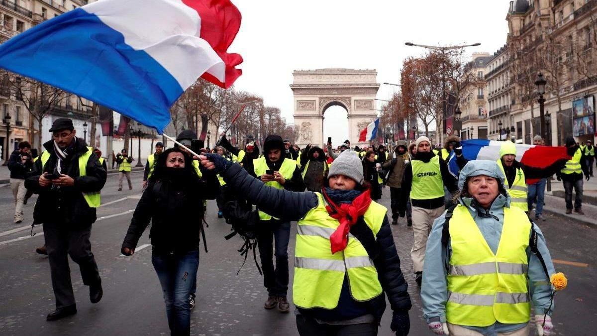 """""""Жовті жилети"""" проведуть чергову акцію протесту у Парижі"""