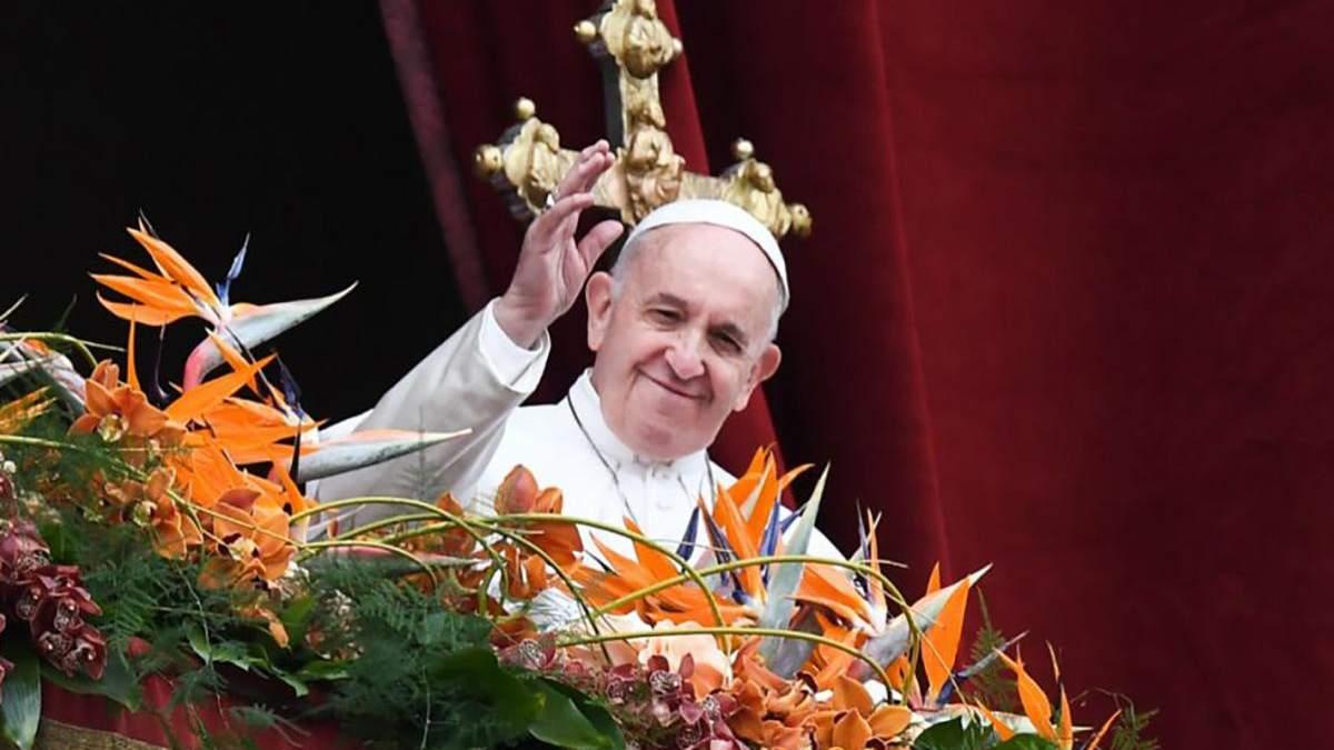 Франциск у Великодній промові згадав про Україну