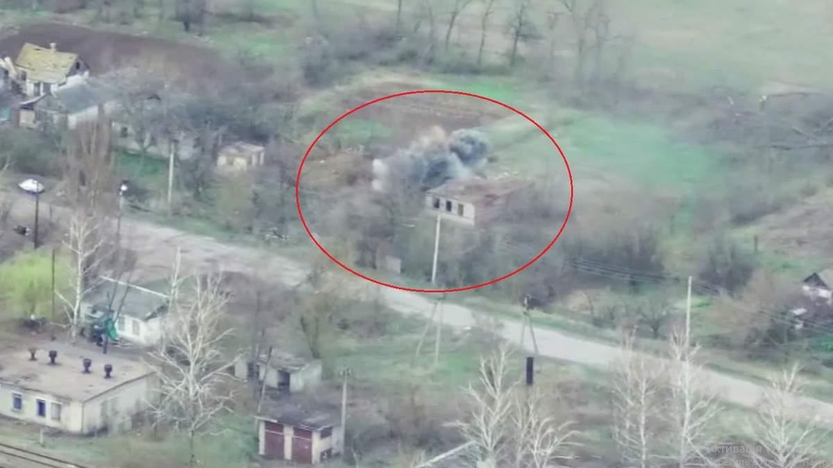 Уничтожение БМП боевиков на Донбассе