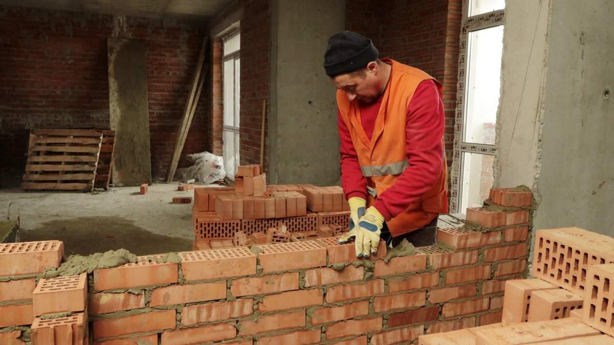 С начала года объемы строительства в Украине выросли почти на 25%