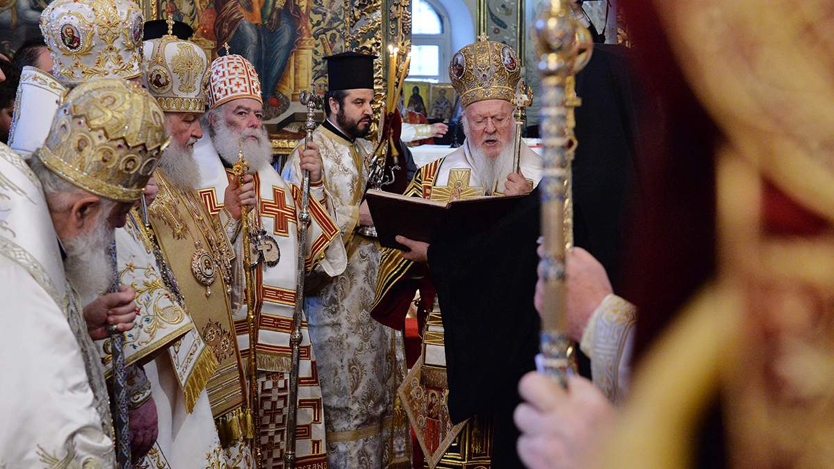 На Фанаре пасхальное послание зачитали на украинском