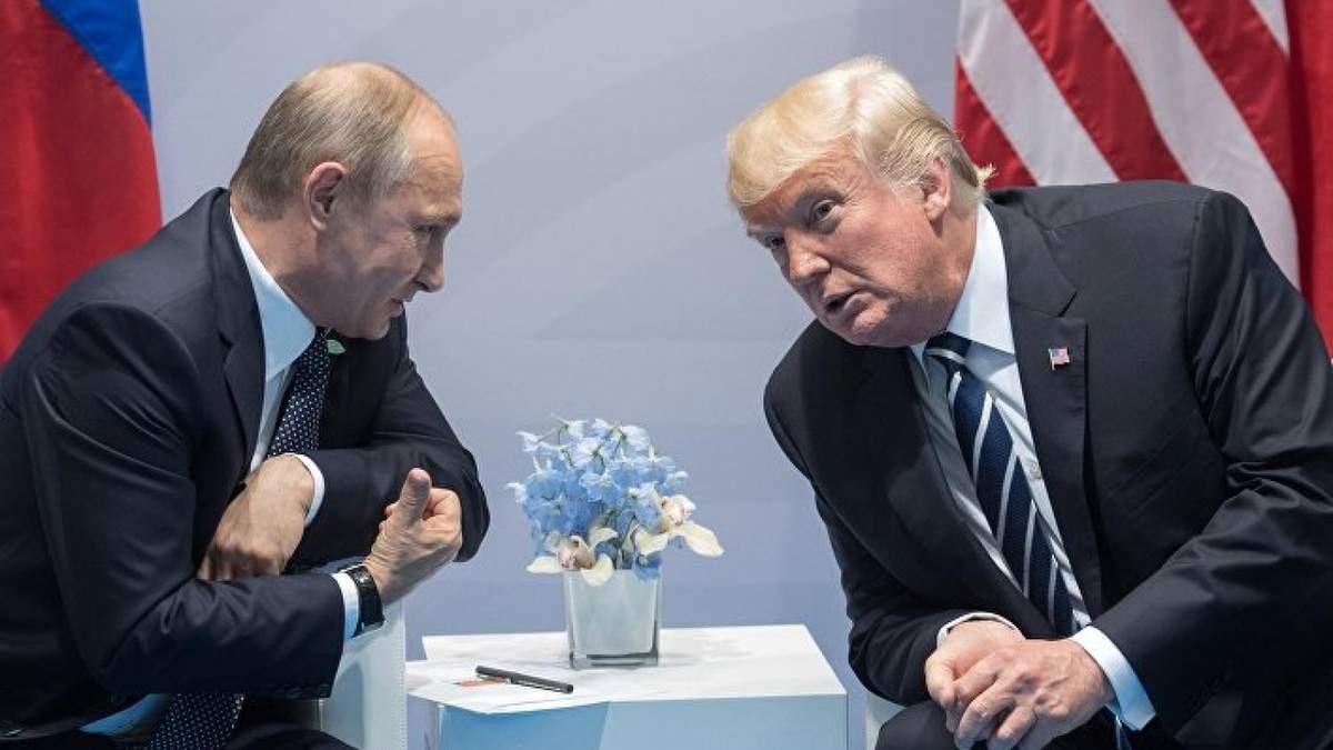 Путін під час розмови з Трампом назвав війну на Донбасі внутрішньоукраїнським конфліктом