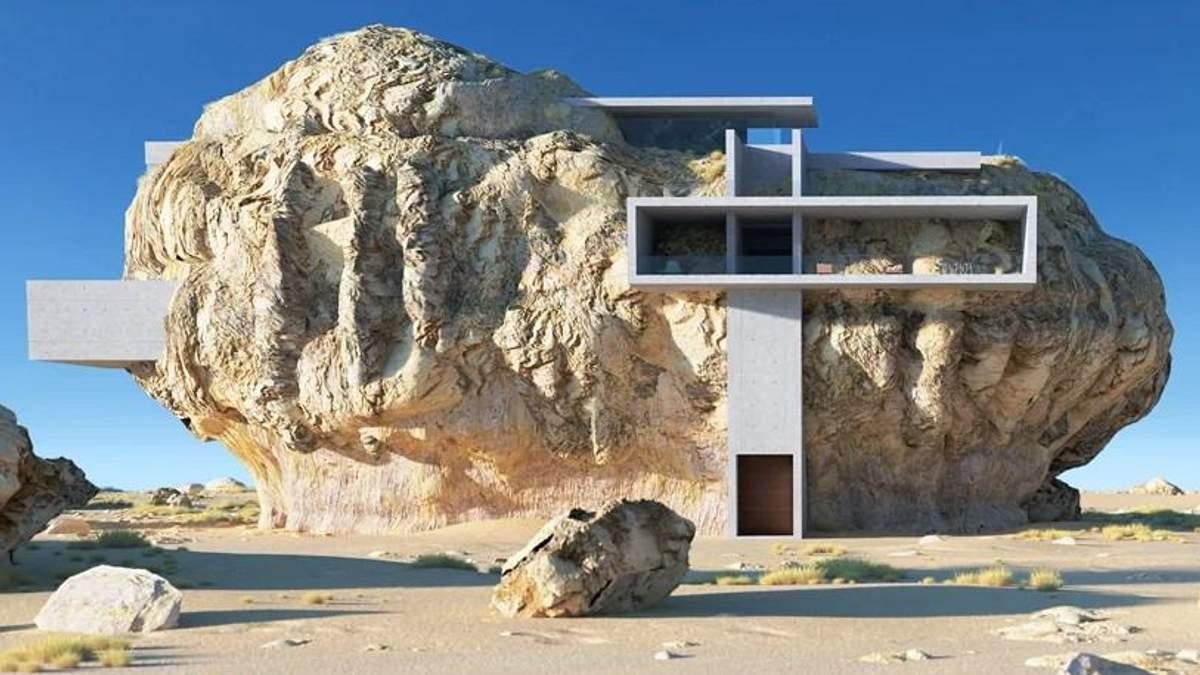 Дім у скелі: будинок архітектора, від якого перехоплює подих