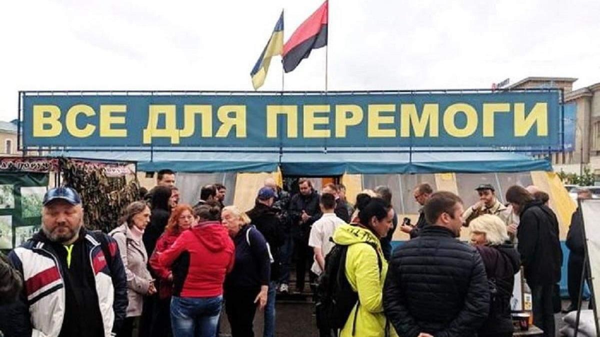 Конфлікт щодо намету в Харкові: суд дозволив залишити волонтерський намет