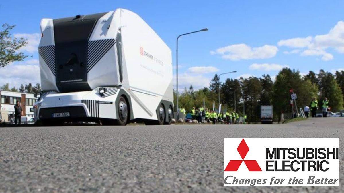 На дороги Швеции впервые выехали грузовики без водителей: яркое видео