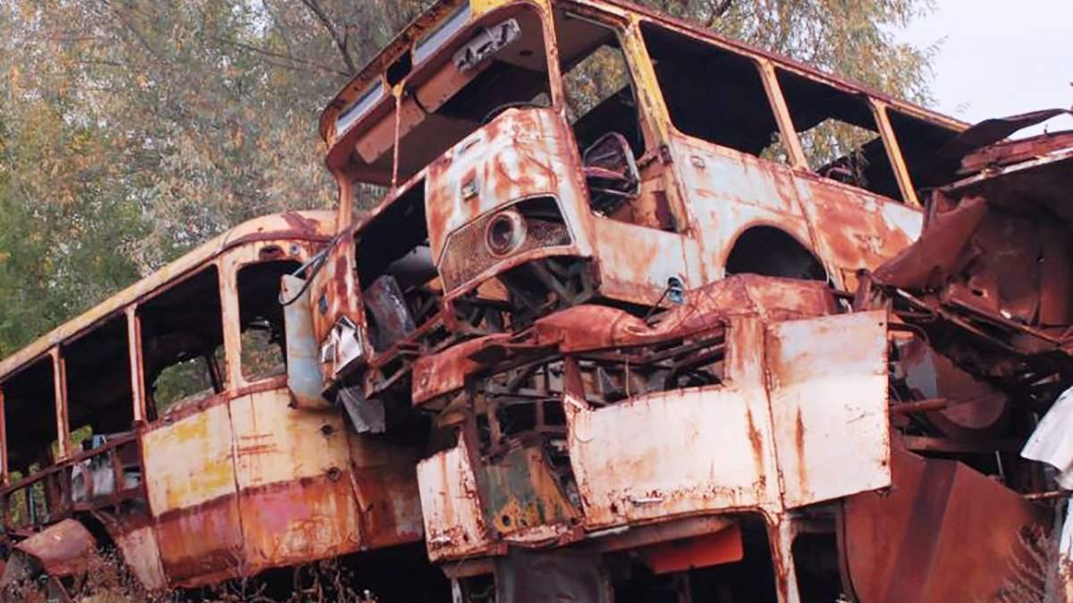 Радіоактивний брухт у Чорнобильській зоні відчуження