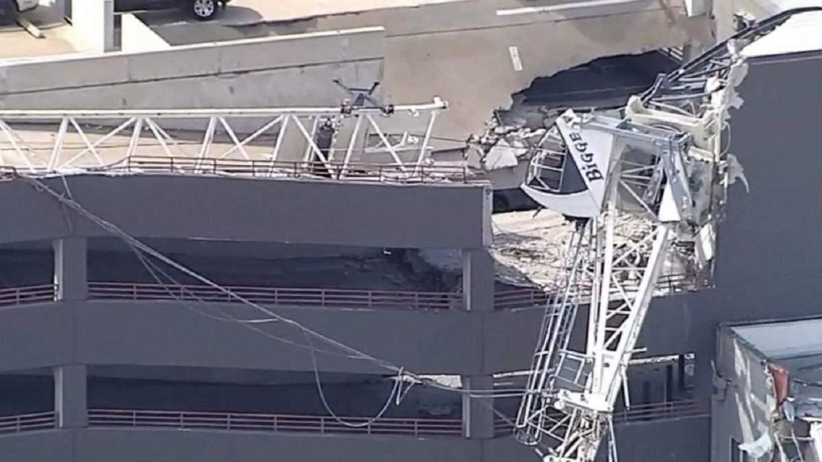 Одна людина загинула, шестеро поранені внаслідок падіння крана на житловий будинок у США