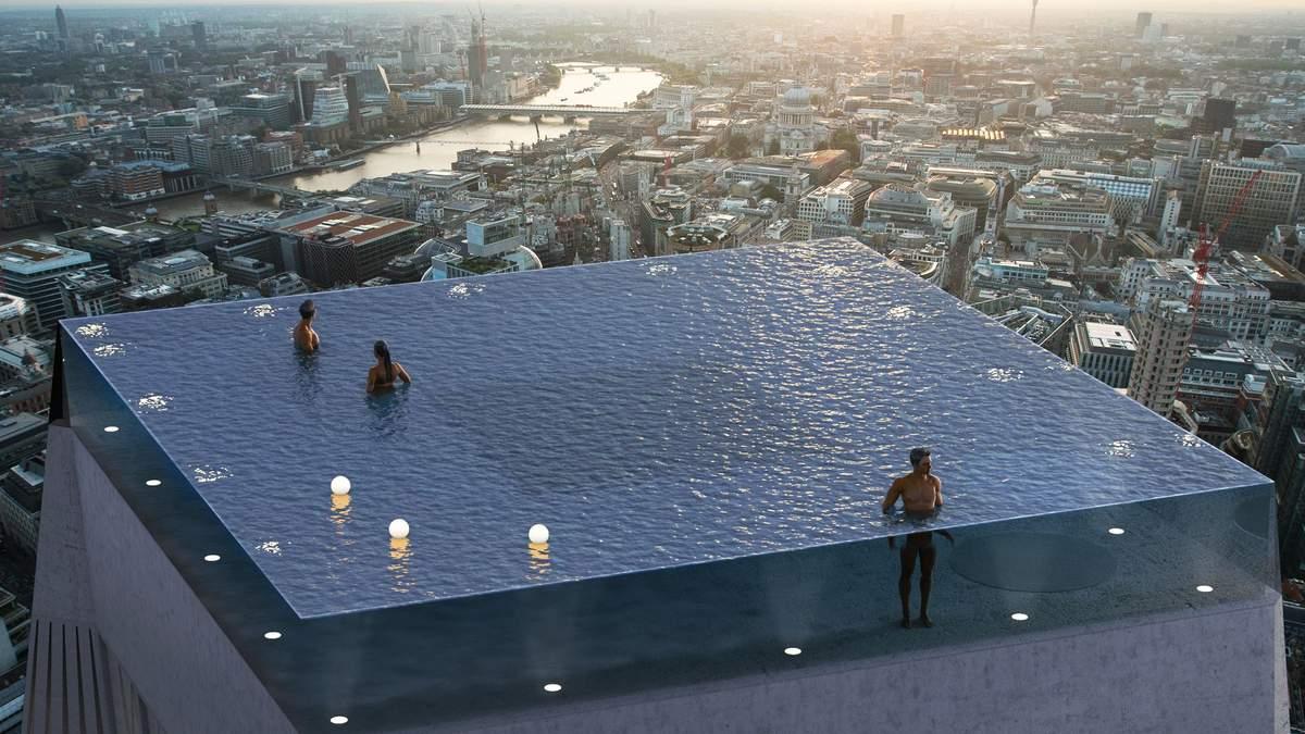 Нескінченний басейн на даху хмарочоса з'явиться у Лондоні