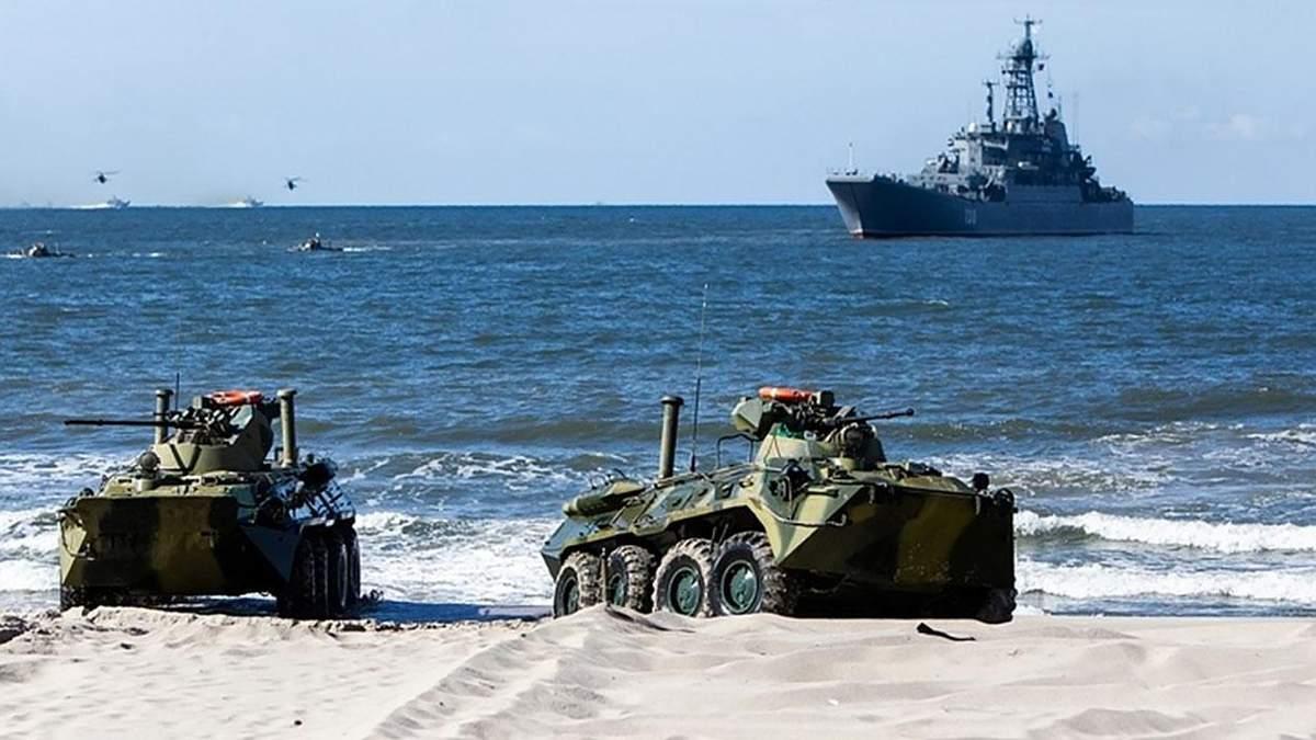 У Росії на військових навчаннях потонув морпіх