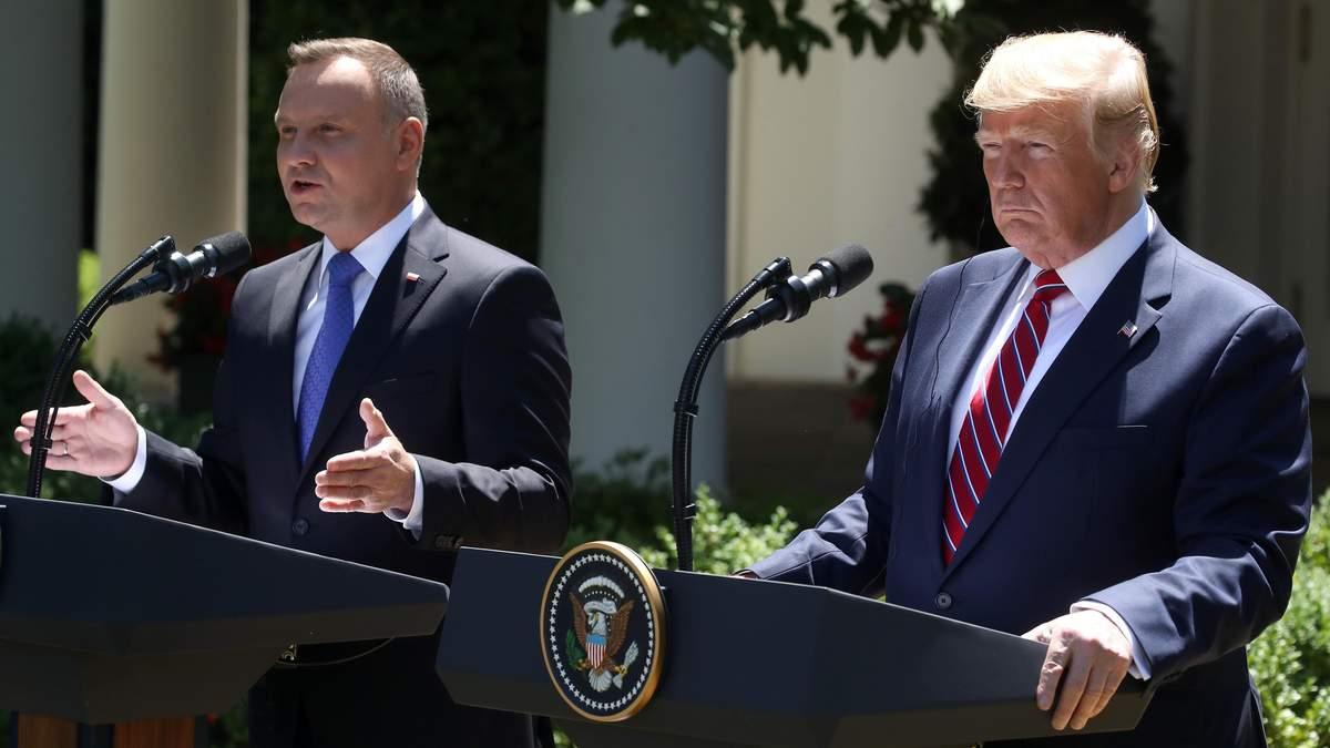 Дональд Трамп та Анджей Дуда зустрілися у Вашингтоні