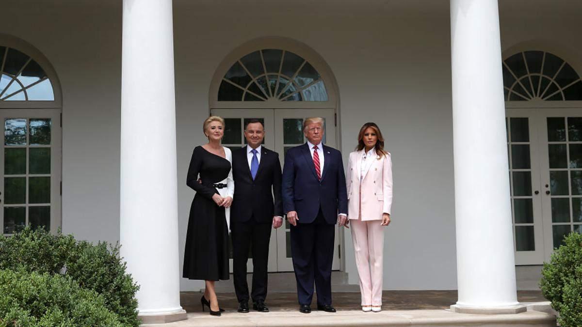 Дональд і Меланія Трамп зустрілись із Анджеєм та Агатою Дудою