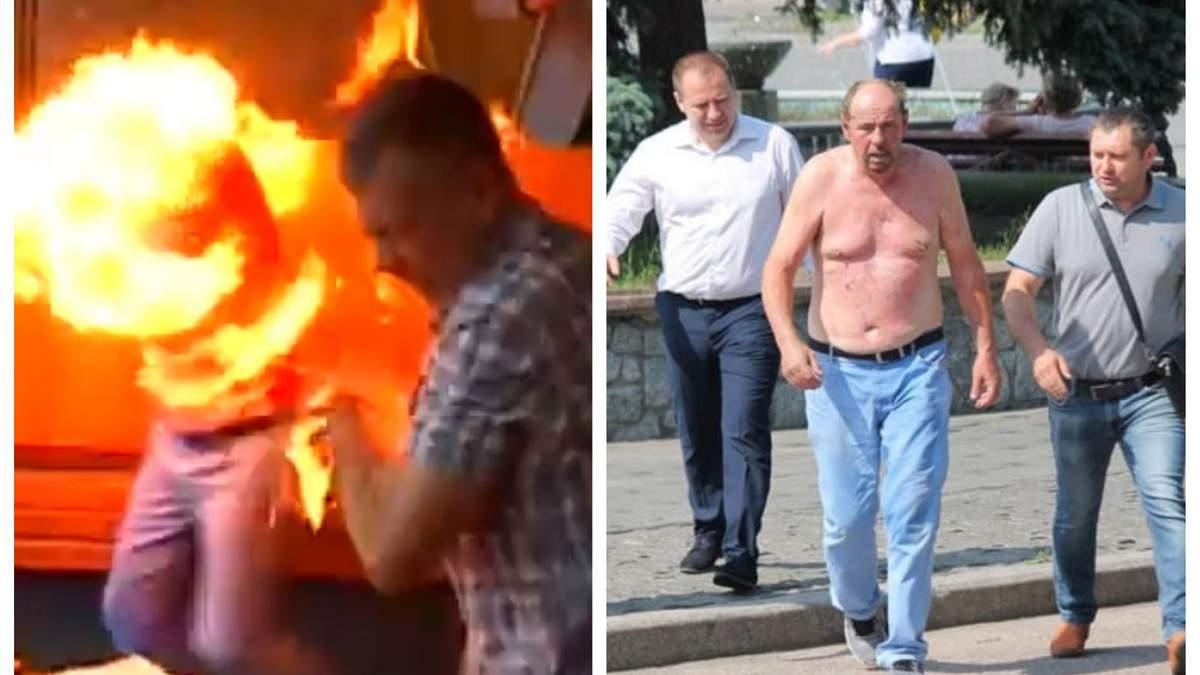У Бердичеві бізнесмен спробував спалити себе