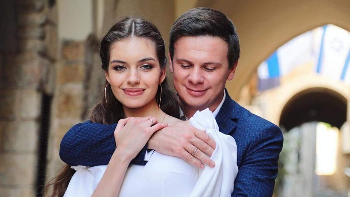 Телеведучий Дмитро Комаров одружився з Олександрою Кучеренко