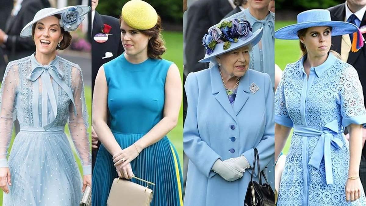 Єлизавета ІІ, принцеси Беатріс і Євгенія та Кейт Міддлтон