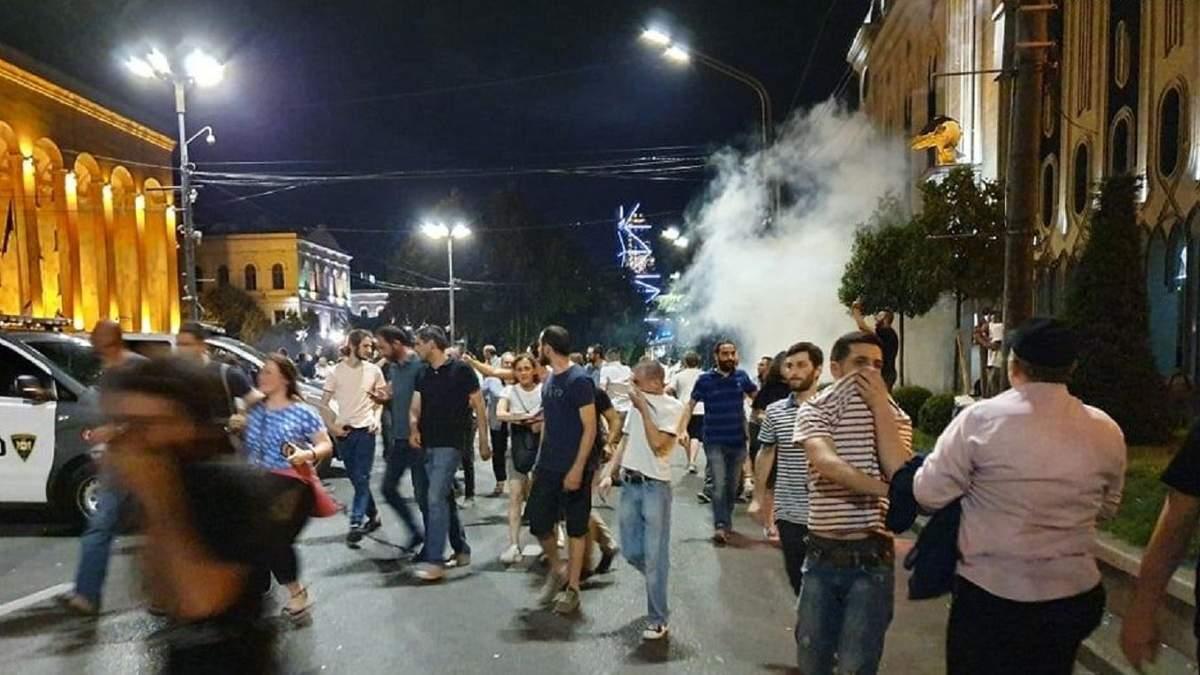 В Грузии вспыхнули протесты: пострадало несколько человек