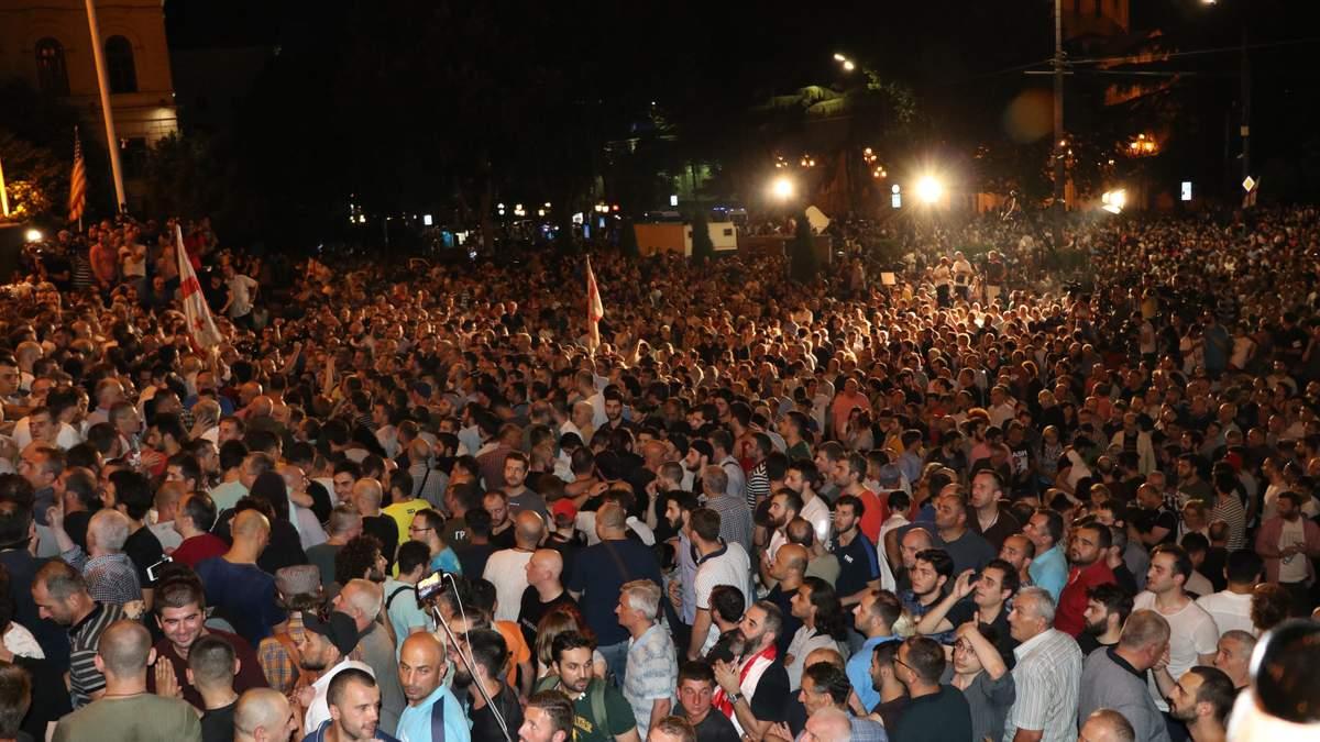 Протести у Грузії почалися 20 червня