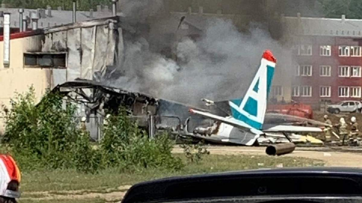 У Нижньоангарську загорівся Ан-24 з пасажирами на борту