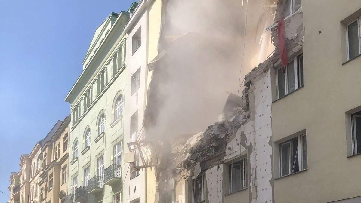Внаслідок потужного вибуху у Відні на перехожих обвалився п'ятиповерховий будинок: перші фото
