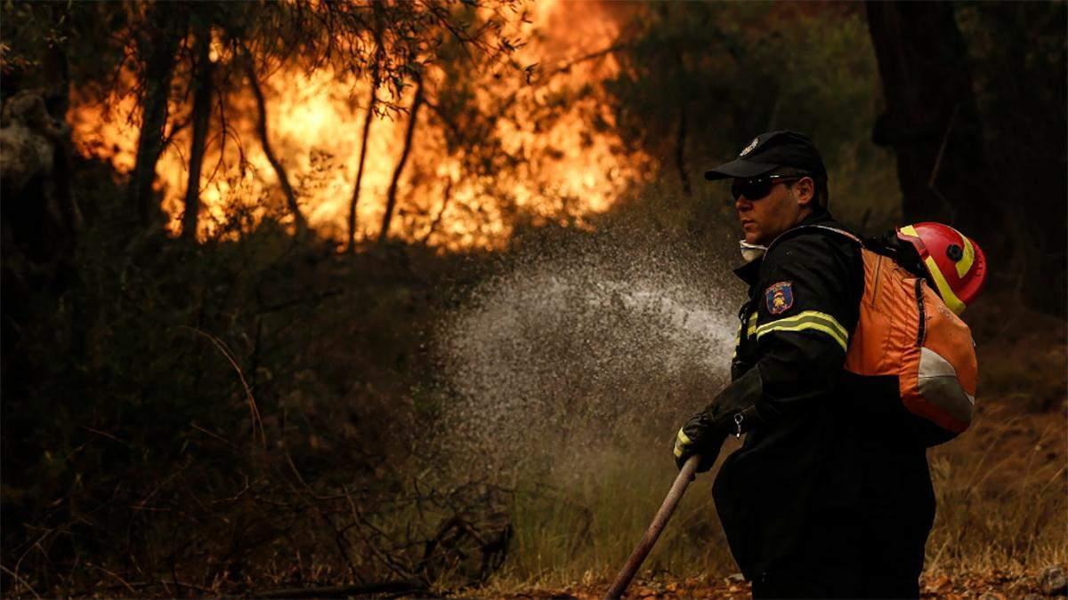 На грецькому острові спалахнули пожежі: людей почали евакуювати