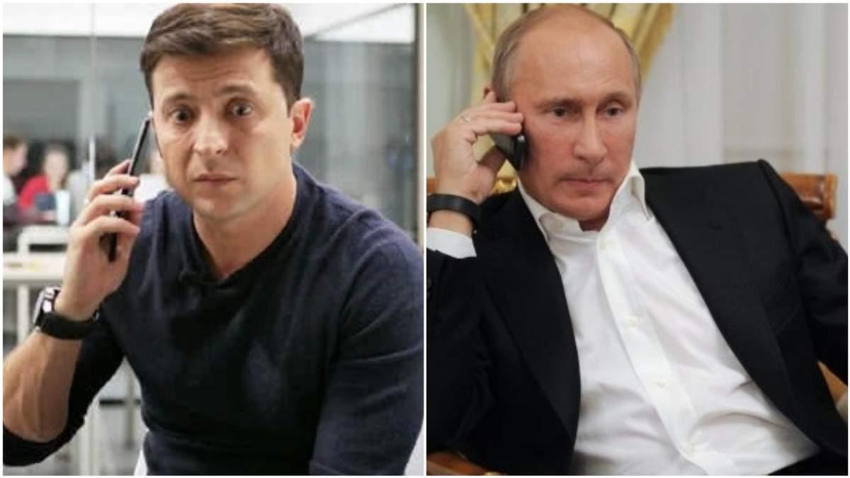 Зеленский провел первый телефонный разговор с Путиным