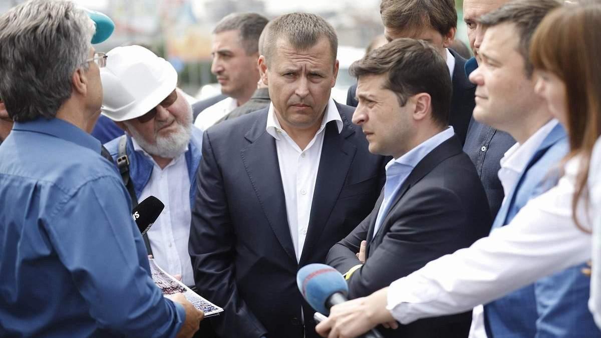Володимир Зеленський та Борис Філатов