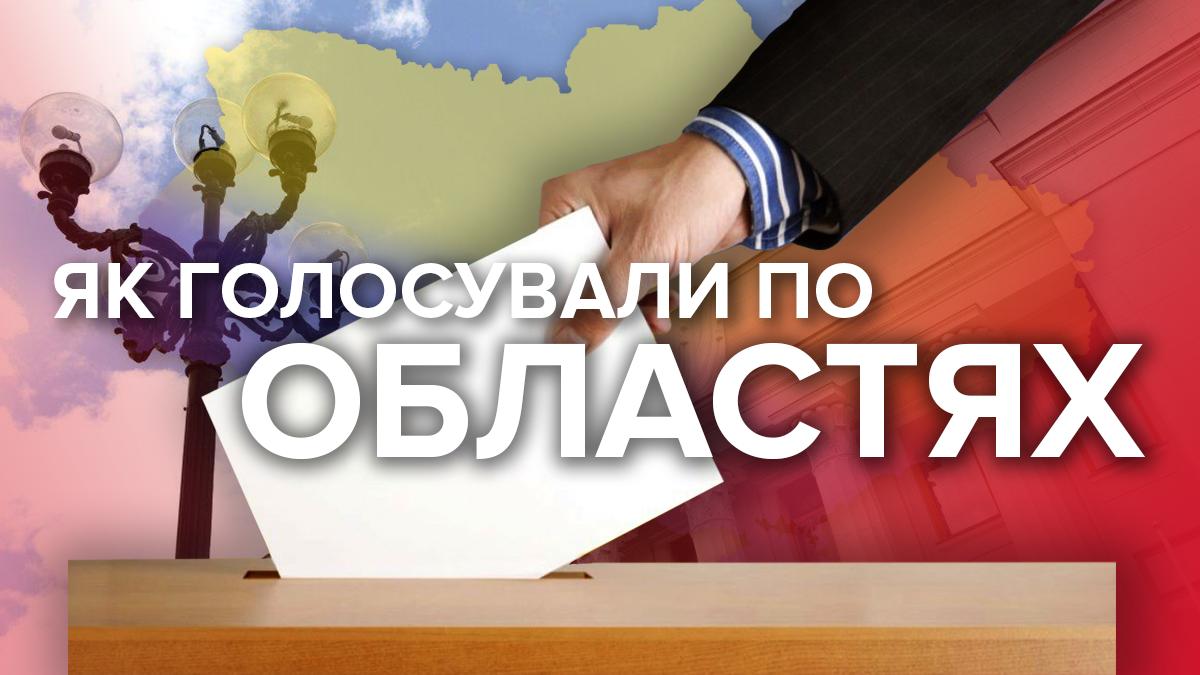 Парламентські вибори 2019 – як та за кого голосували в областях