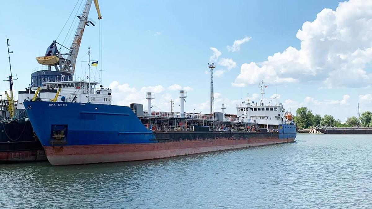 Затриманий російський танкер NEYMA. який перейменували на NIKA SPIRIT
