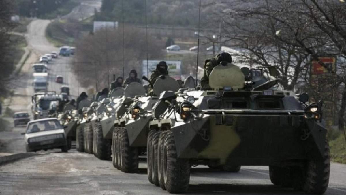 Россияне собирают военную технику на границе с Украиной (фото иллюстративное)