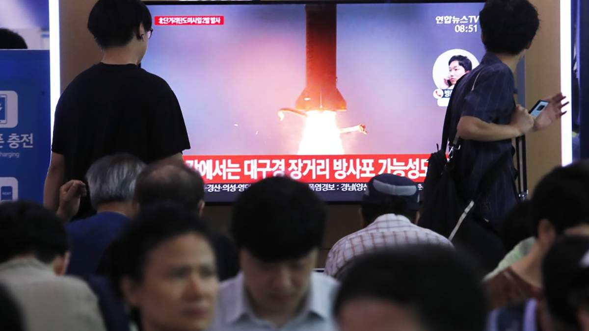 Пуск ракет показали на національному телебаченні Південної Кореї