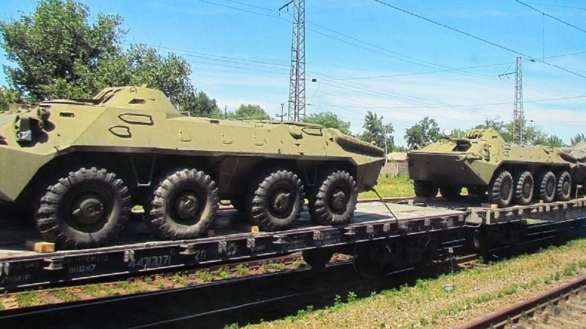 Ростовська область, російські бронетранспортери