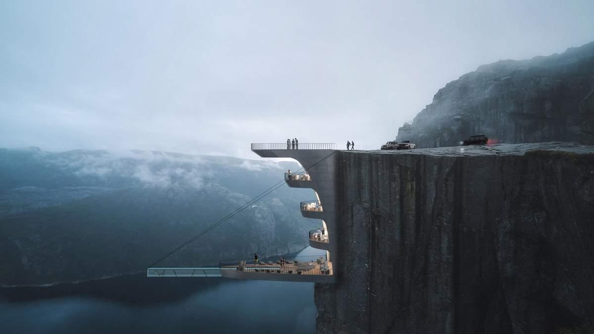 Готель з басейном над прірвою може з'явитись у Норвегії