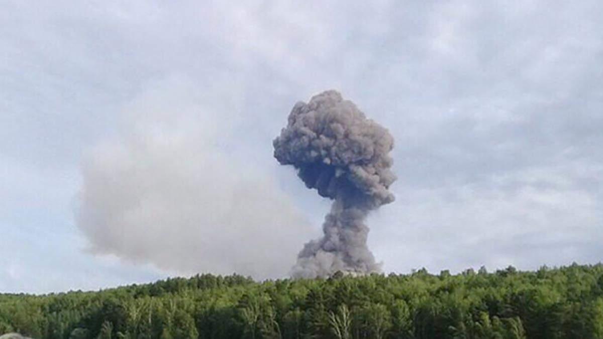 Вибух складу боєприпасів під Ачинском в Росії - серпень 2019