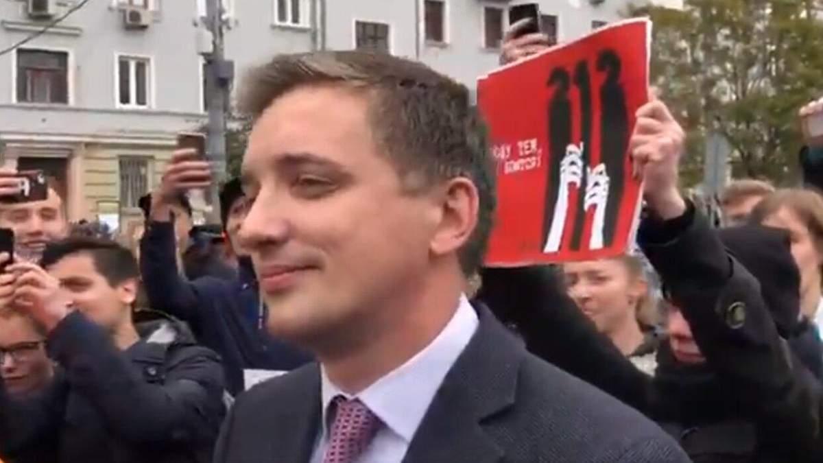 "Позор: журналиста ""России 1"" унизили на акции протеста в Москве"