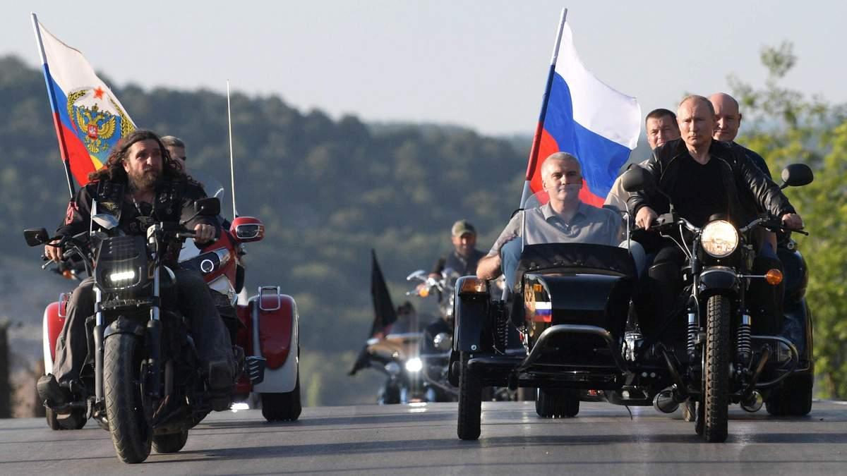 """Байкер Путин с """"Ночными волками"""" принял участие в пропагандистских мероприятиях в Крыму"""