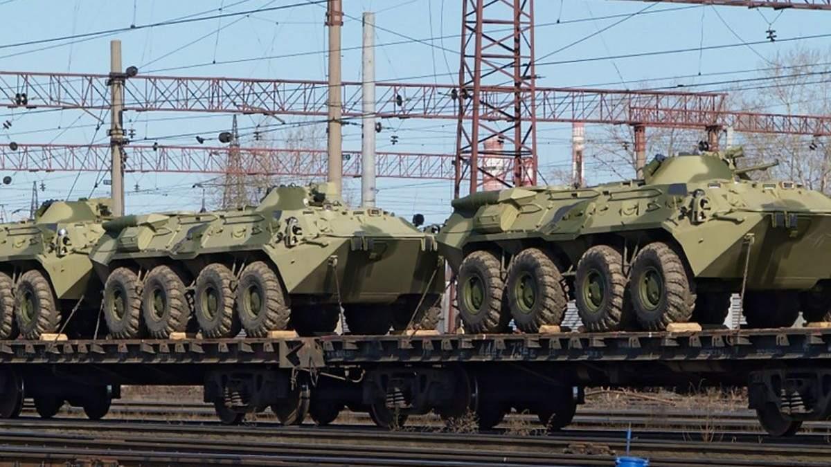 Россия по железной дороге перебрасывает на Донбасс оружие и боеприпасы